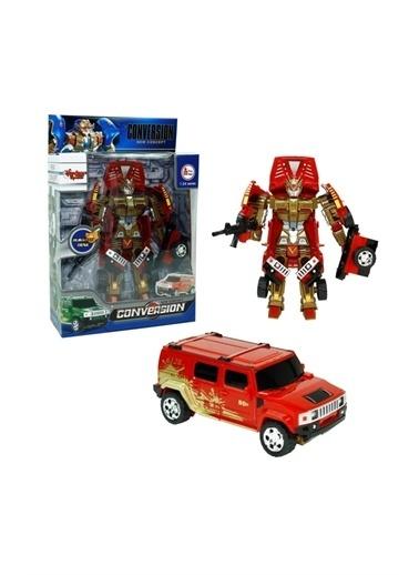Vardem Dönüşebilen Mini Robot Jeep Kırmızı